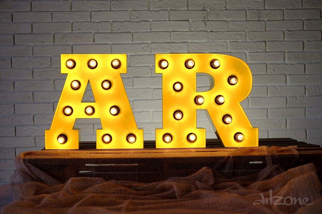 Светещи Букви с Едисон крушки